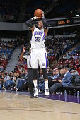 Ben McLemore of the Sacramento Kings shoots against the Oklahoma City Thunder on February 29 2016 at Sleep Train Arena in Sacramento California NOTE...