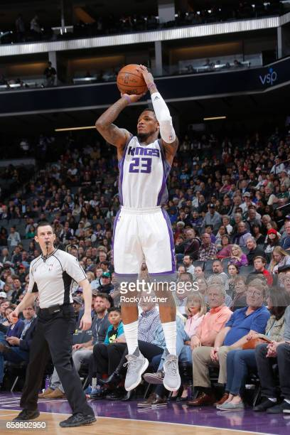 Ben McLemore of the Sacramento Kings shoots the ball during a game against the Memphis Grizzlies on March 27 2017 at Golden 1 Center in Sacramento...