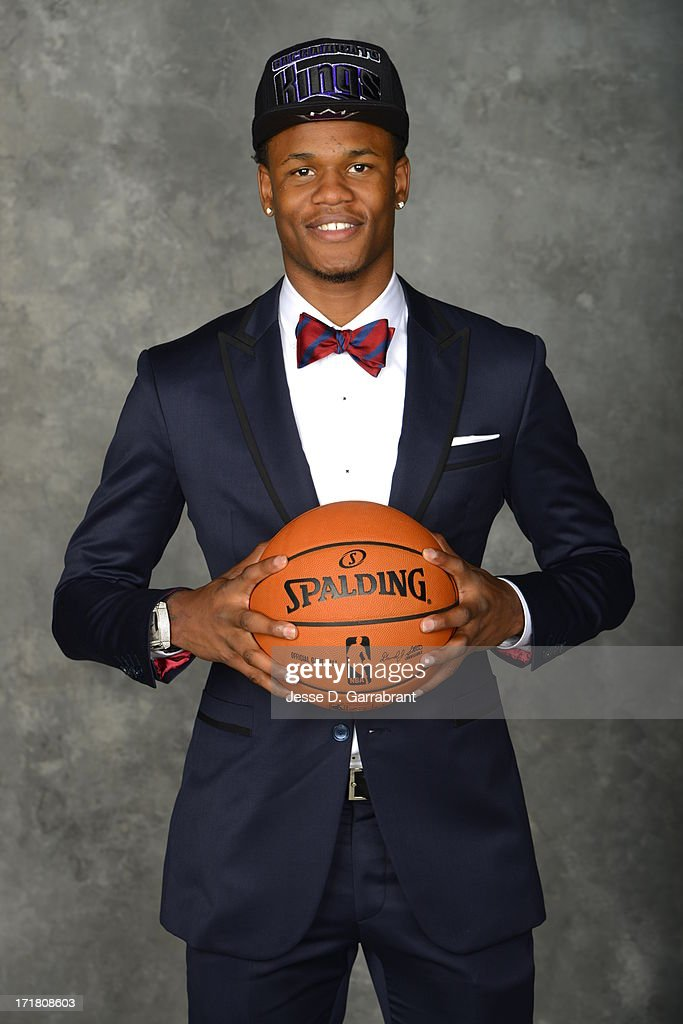 Ben Mclemore poses for a portrait after being selected during the 2013 NBA Draft at the Barclays Center on June 27, 2013 in Brooklyn, New York.