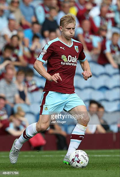 Ben Mee of Burnley during the Sky Bet Championship match between Burnley and Brentford at Turf Moor on August 22 2015 in Burnley England