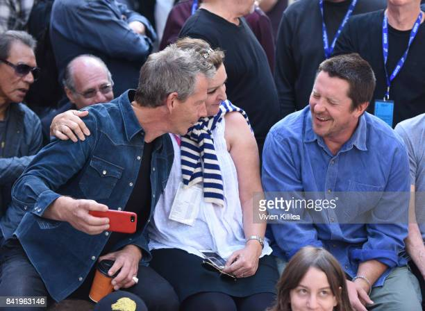 Ben Mendelsohn executive director of the Telluride Film Festival Julie Huntsinger and Christian Bale attend the Telluride Film Festival 2017 on...