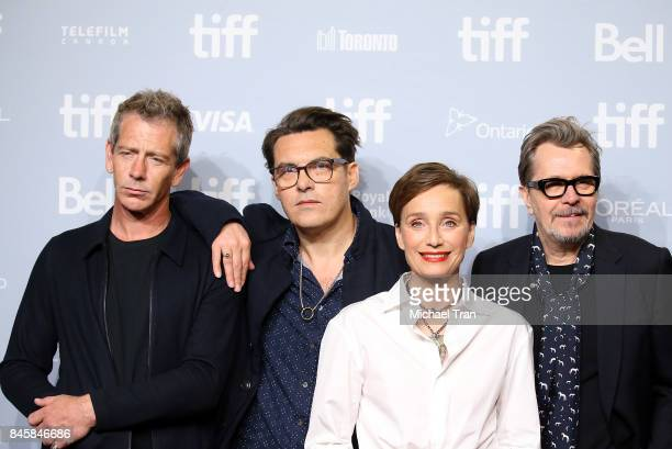 Ben Mendelsohn Joe Wright Kristin Scott Thomas and Gary Oldman attend the 'Darkest Hour' photo call 2017 TIFF Premieres Photo Calls and Press...
