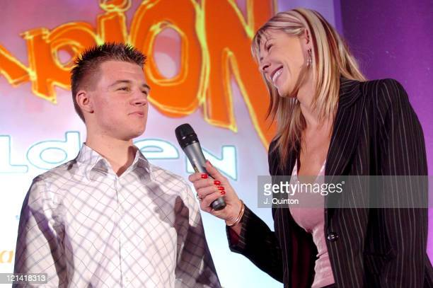 Ben Middleton and Sharron Davies during Champion Children of the Year 2004 at The Millennium Club in London Great Britain