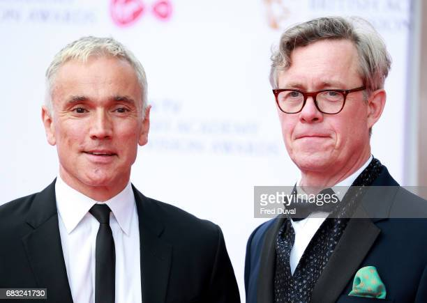 Ben Miles and Alex Jennings attend the Virgin TV BAFTA Television Awards at The Royal Festival Hall on May 14 2017 in London England