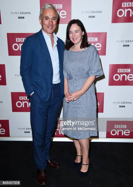 Ben Miles and Amanda Drew attend the preview of BBC One Drama 'The Last Post' at BFI Southbank on September 6 2017 in London England