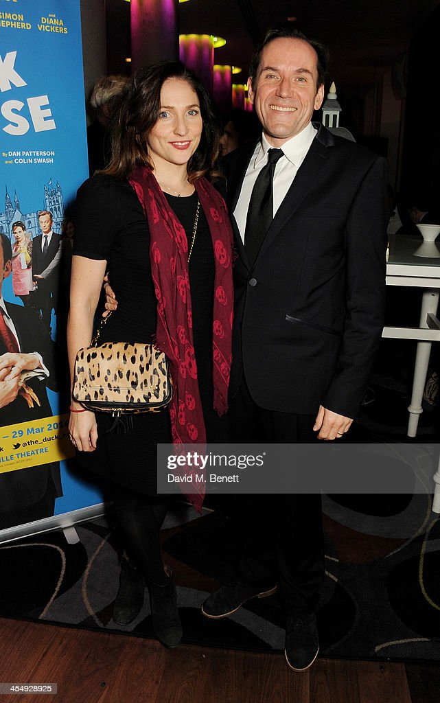 Ben Miller (R) and Jessica Parker attend an after party celebrating the press night performance of 'The Duck House' at The Trafalgar Hotel on December 10, 2013 in London, England.