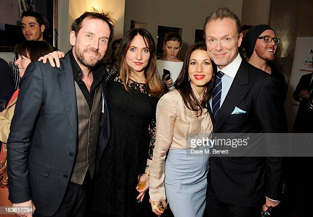 Ben Miller guest Lauren Kemp and Gary Kemp attend a gala performance of 'The Book Of Mormon' in aid of Red Nose Day at the Prince Of Wales Theatre on...