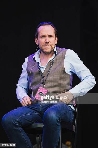 Ben Miller joins BBC Radio 4 Show The Infinite Monkey Cage on the main stage during day 1 of BlueDot Festival 2016 at Jodrell Bank on July 22 2016 in...