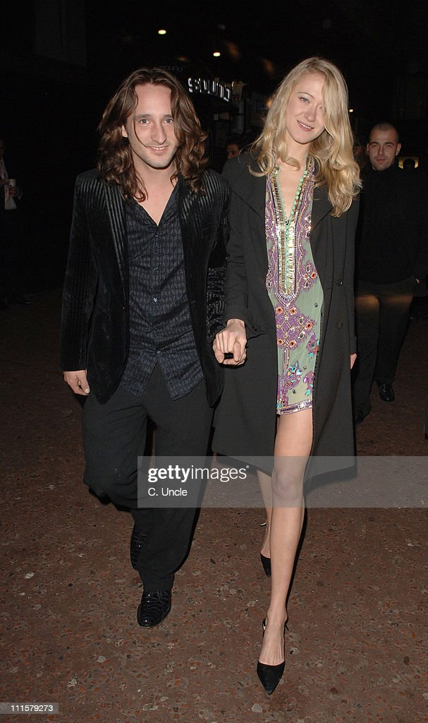 Ben Mills and Siobhan Hewlett during X Factor Party Arrivals at Sound Leicester Square in London Great Britain