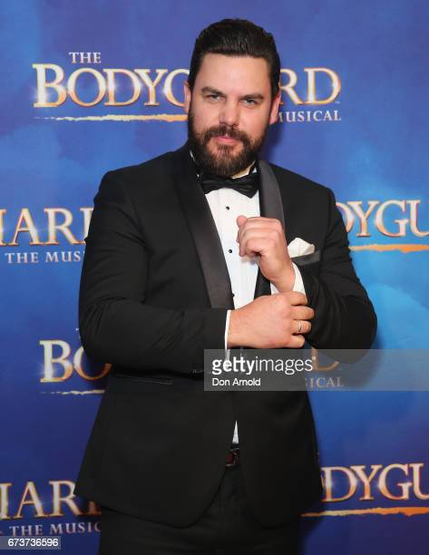 Ben Mingay arrives ahead of opening night of The Bodyguard The Musical at Lyric Theatre Star City on April 27 2017 in Sydney Australia