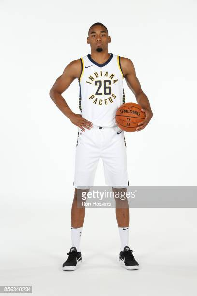 Ben Moore of the Indiana Pacers poses for a portrait during the Pacers Media Day at Bankers Life Fieldhouse on September 25 2017 in Indianapolis...