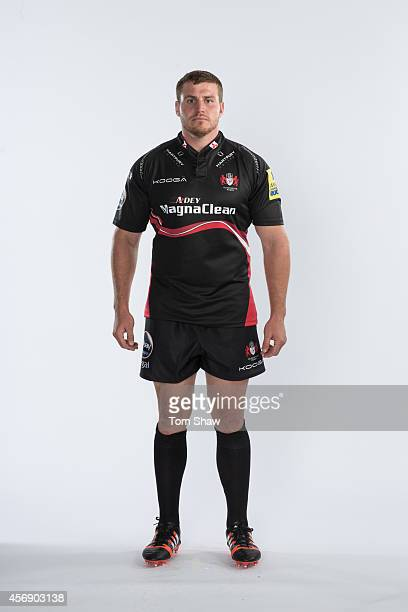 Ben Morgan of Gloucester poses for a picture during the Gloucester Rugby photo shoot for BT Sport at Kingsholm Stadium on August 21 2014 in...