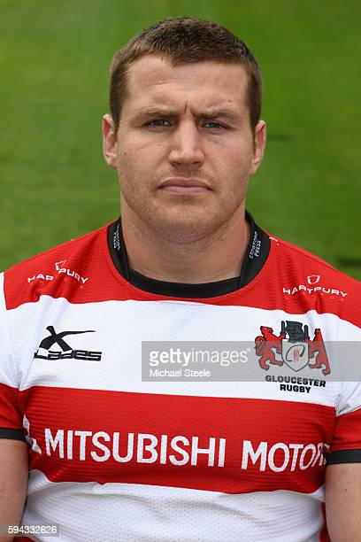 Ben Morgan poses for a portrait during the Gloucester Rugby squad photo call for the 20162017 Aviva Premiership Rugby season on August 22 2016 in...