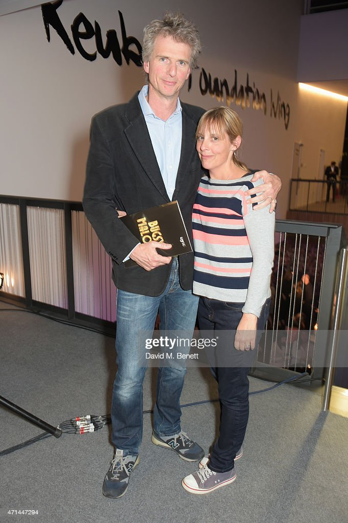 Ben Morris (L) and Mel Giedroyc attend the opening of the Lyric Hammersmith's Reuben Foundation Wing and 'Bugsy Malone' at the Lyric Hammersmith on April 28, 2015 in London, England.