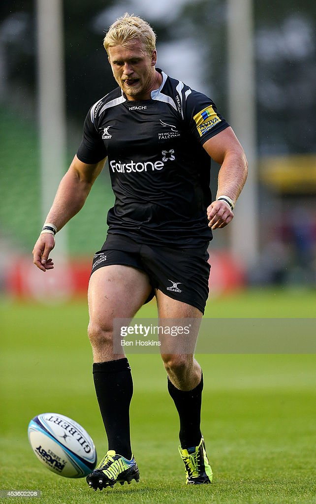 Ben Morris of Newcastle Falcons in action at the Premiership Rugby 7s Series Finals at Twickenham Stoop on August 8, 2014 in London, England.