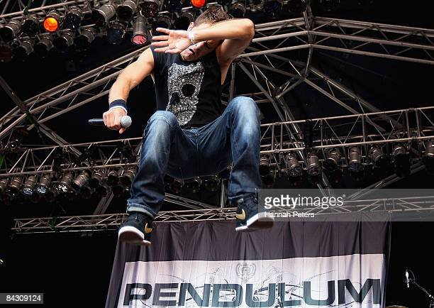 Ben Mount of Pendulum performs during the 2009 Big Day Out at Mt Smart Stadium on January 16 2009 in Auckland New Zealand