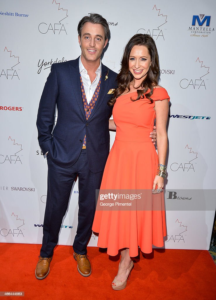 Ben Mulroney and Jessica Mulroney arrive at the 1st Annual Canadian Arts and Fashion Awards at the Fairmont Royal York Hotel on February 1, 2014 in Toronto, Canada.