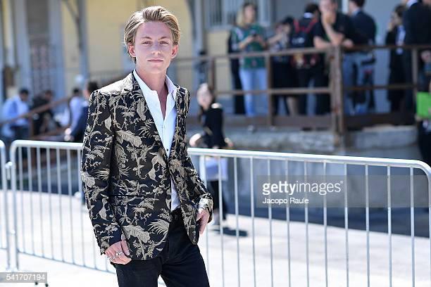 Ben Nordberg arrives at the Gucci show during Milan Men's Fashion Week Spring/Summer 2017 on June 20 2016 in Milan Italy