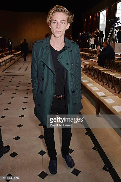 Ben Nordberg attends the front row at Burberry Prorsum AW15 London Collections Men at Kensington Gardens on January 12 2015 in London England