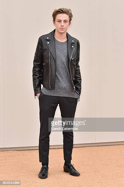 Ben Nordberg wearing Burberry attends the Burberry Menswear January 2016 Show on January 11 2016 in London United Kingdom