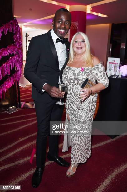 Ben Ofoedu and Vanessa Feltz attend the Breast Cancer Care London Fashion Show in association with Comfort at Park Plaza Westminster Bridge Hotel on...