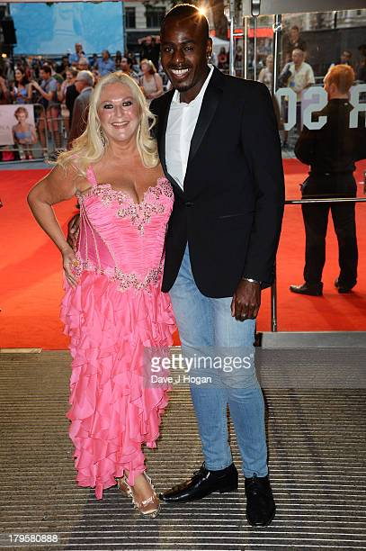 Ben Ofoedu and Vanessa Feltz attend the world premiere of 'Diana' at The Odeon Leicester Square on September 5 2013 in London England