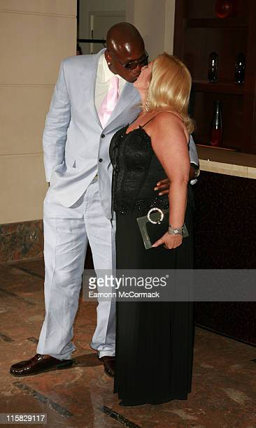Ben Ofoedu and Vanessa Feltz during Angela Rippon Hosts British Red Cross Fundraising – Arrivals at Intercontinental Hotel in London Great Britain