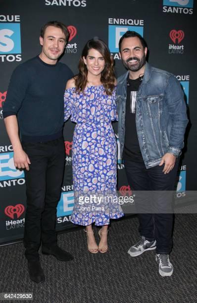 Ben O'Toole Karla Souza and Enrique Santos visit the Enrique Santos Show at I Heart Latino Tu949 on February 17 2017 in Miami Florida