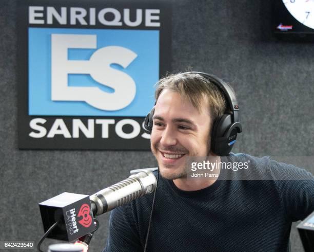 Ben O'Toole visits the Enrique Santos Show at I Heart Latino Tu949 on February 17 2017 in Miami Florida
