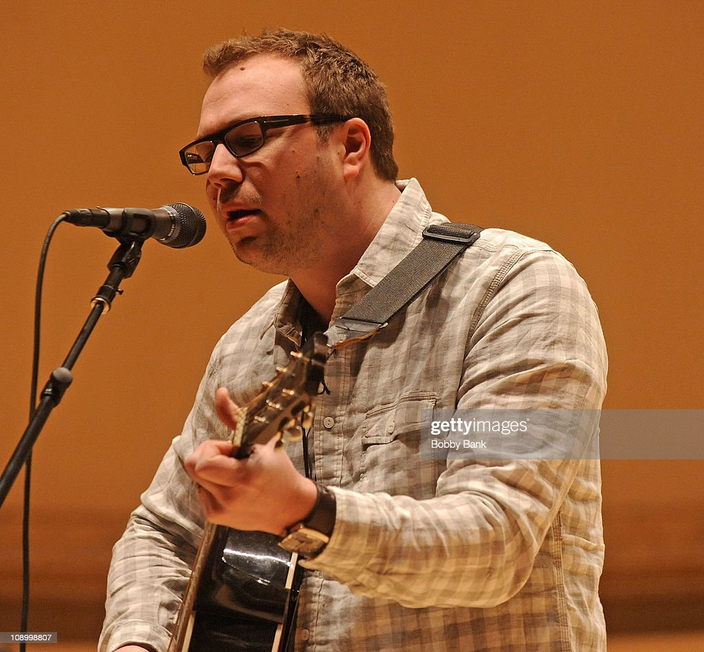 Ben Ottewell of Gomez rehearses for The Music of Neil Young at Carnegie Hall on February 10, 2011 in New York City.