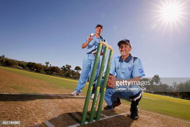 Ben Patterson and Marty Jeffery of New South Wales pose for a photo on February 8 2017 in Alice Springs Australia