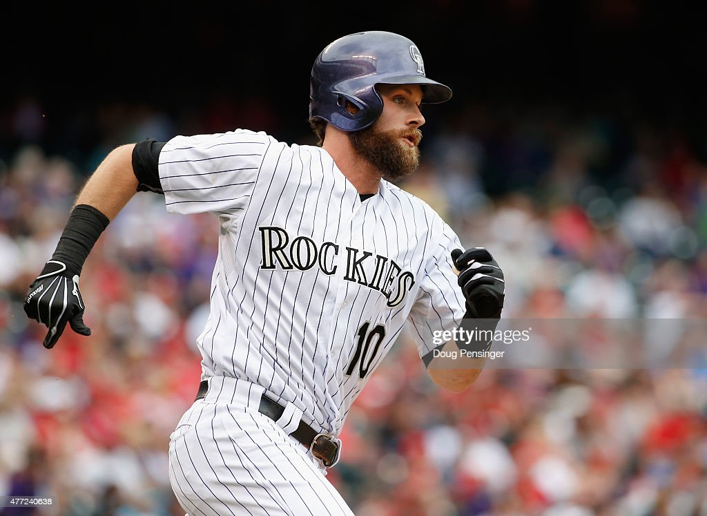 Ben Paulsen #10 of the Colorado Rockies rounds the bases against the St. Louis Cardinals at Coors Field on June 10, 2015 in Denver, Colorado. The Cardinals defeated the Rockies 4-2.