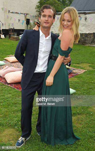 Ben Pawson and Poppy Jamie attend Greta Bellamacina and Robert Montgomery's wedding on July 8 2017 in Exeter England