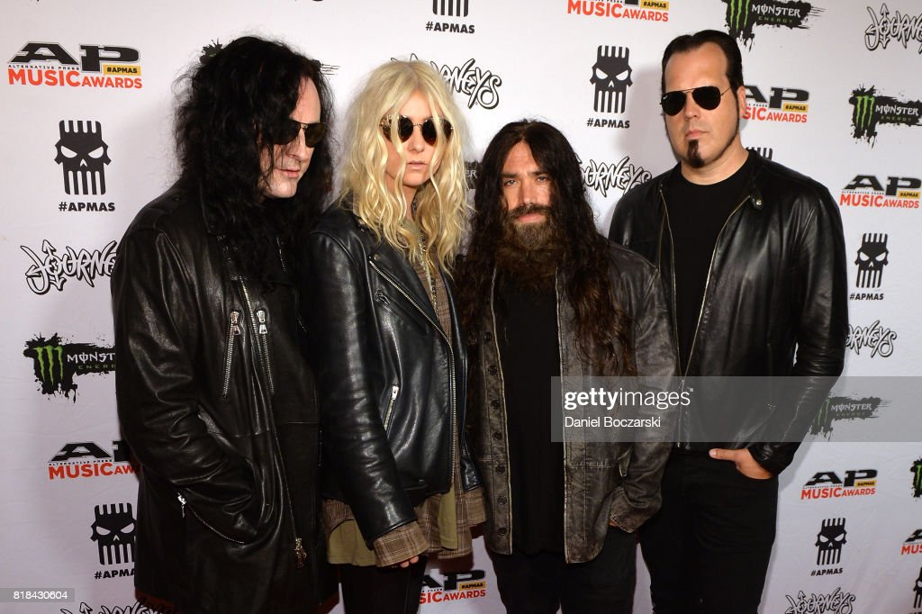 Ben Philips, Taylor Momsen, Jamie Perkins and Mark Damon of The Pretty Reckless attend the 2017 Alternative Press Music Awards at KeyBank State Theatre on July 17, 2017 in Cleveland, Ohio.