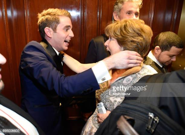 Ben Platt and his mother attend the 2017 Tony Awards at Radio City Music Hall on June 11 2017 in New York City