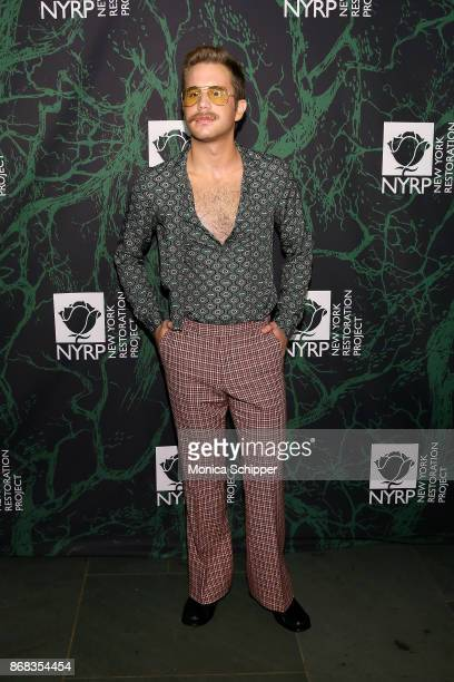 Ben Platt attends Bette Midler's 2017 Hulaween event benefiting the New York Restoration Project at Cathedral of St John the Divine on October 30...