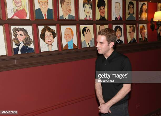 Ben Platt gets honored for his performance in the broadway musical 'Dear Evan Hansen' wth a caricature on the wall of fame at Sardi's on May 30 2017...