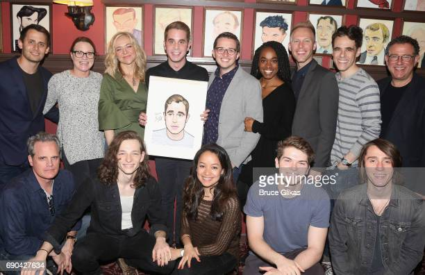 Ben Platt poses with the cast and creative team as Ben Platt gets honored for his performance in his broadway show 'Dear Evan Hansen' wth a...