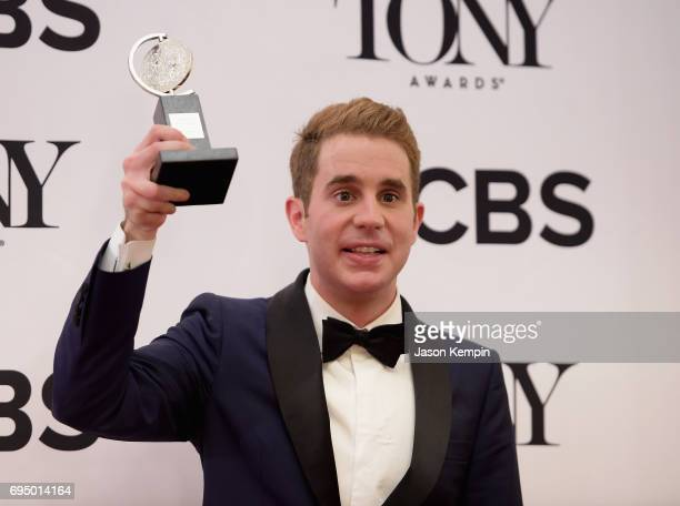 "Ben Platt winner of the award for Best Actor in a Musical for 'Dear Evan Hanson"" poses in the press room during the 2017 Tony Awards at 3 West Club..."