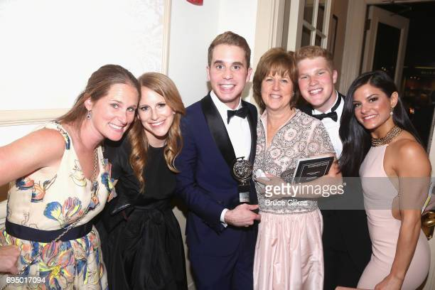 """Ben Platt winner of the award for Best Actor in a Musical for 'Dear Evan Hanson"""" poses in the press room during the 2017 Tony Awards at 3 West Club..."""