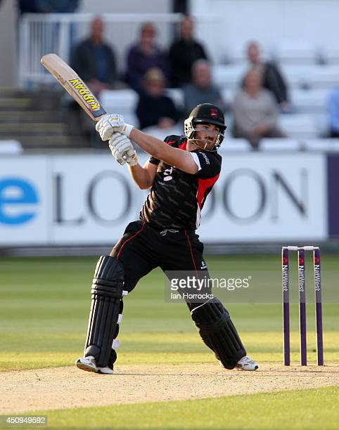 Ben Raine of Leicestershire Foxes during The Natwest T20 Blast match between Durham Jets and Leicestershire Foxes at The Emirates Durham ICG on June...