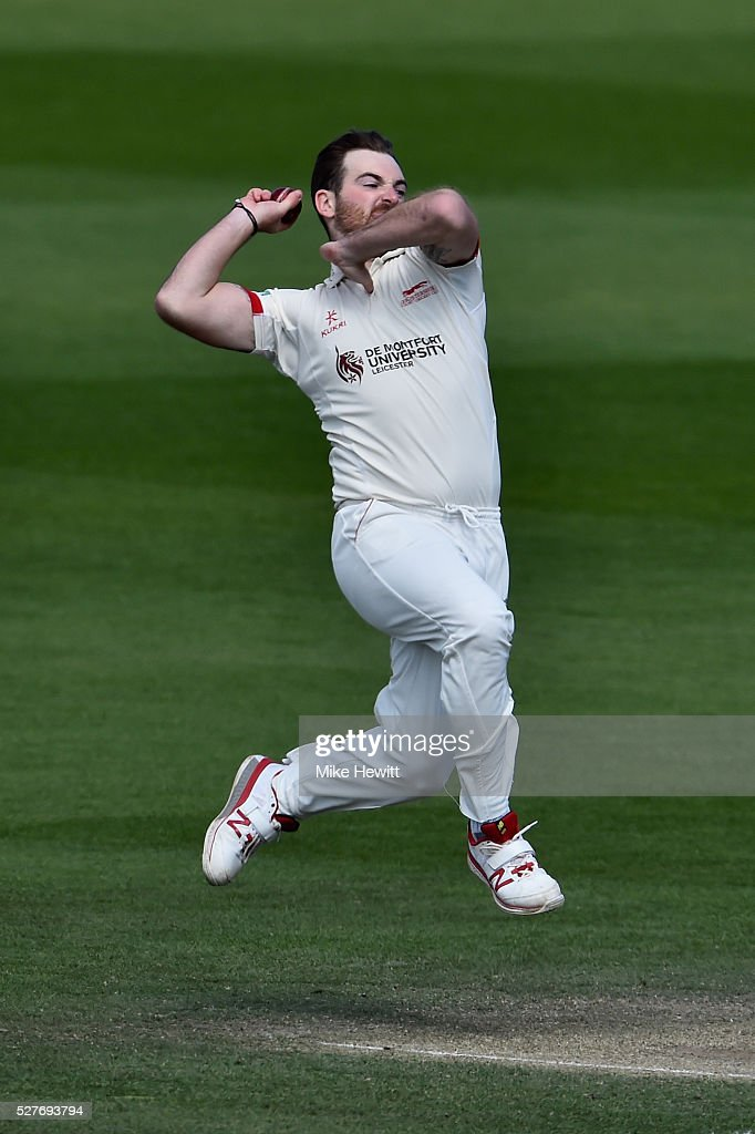 Ben Raine of Leicestershire in action during the Specsavers County Championship Division Two match between Sussex and Leicestershire on May 03, 2016 in Hove, England.
