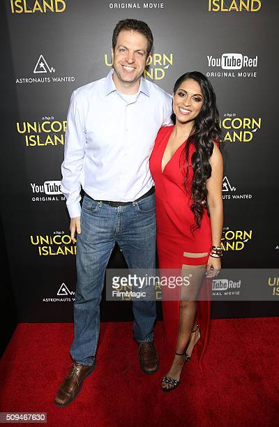 Ben Relles Head of Unscripted YouTube and Lilly Singh attend YouTube Red Original Premiere of 'A Trip To Unicorn Island' at TCL Chinese Theatre on...