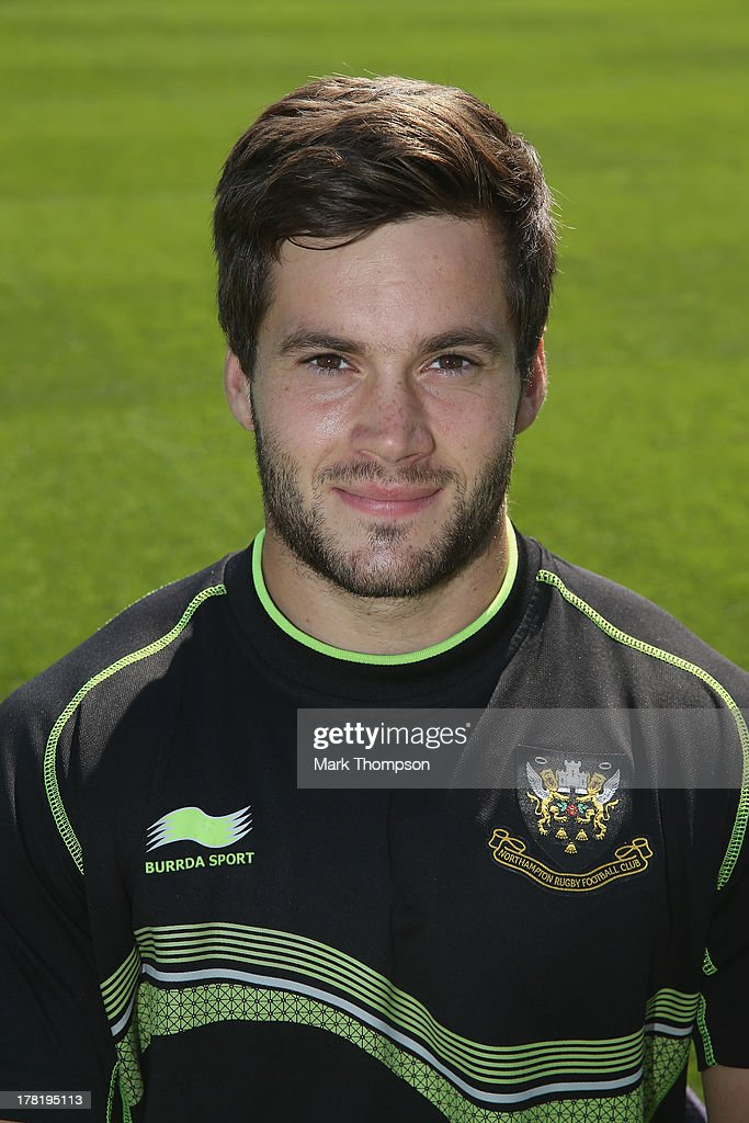 Ben Rhodes a performance intern for Northampton Saints senior academy poses for a portrait at Franklin's Gardens on August 27, 2013 in Northampton, England.