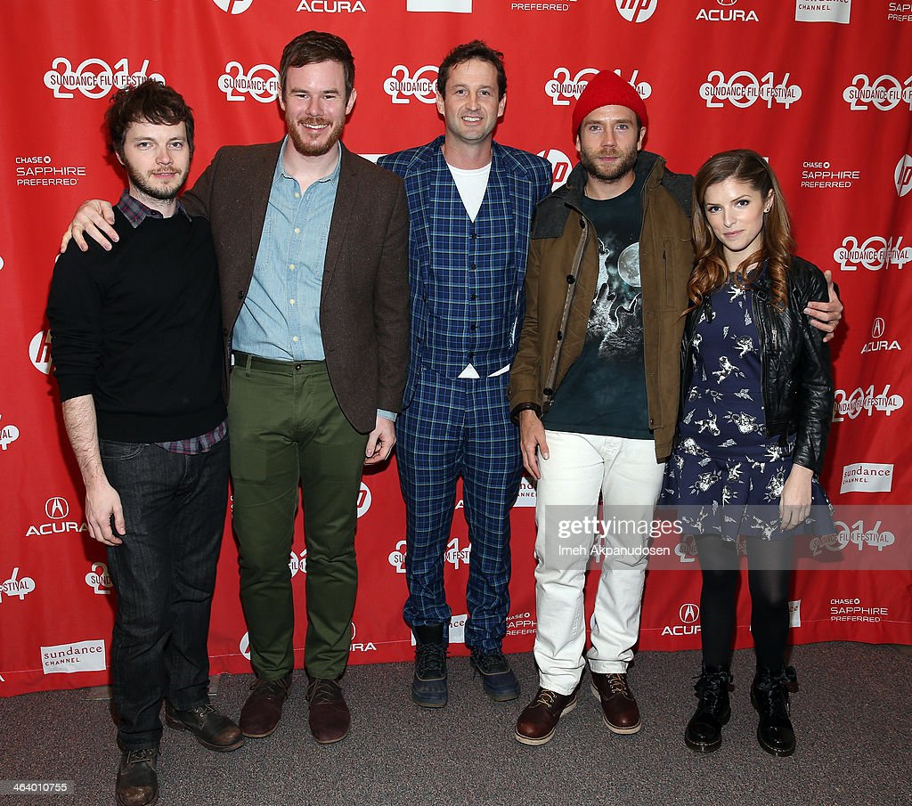Ben Richardson, Joe Swanberg, Trevor Groth, Mark Webber and Anna Kendrick attend the 'Happy Christmas' premiere at Library Center Theater during the 2014 Sundance Film Festival on January 19, 2014 in Park City, Utah.