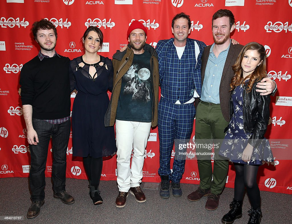 Ben Richardson, Melanie Lynskey, Mark Webber, Trevor Groth, Joe Swanberg and Anna Kendrick attend the 'Happy Christmas' premiere at Library Center Theater during the 2014 Sundance Film Festival on January 19, 2014 in Park City, Utah.