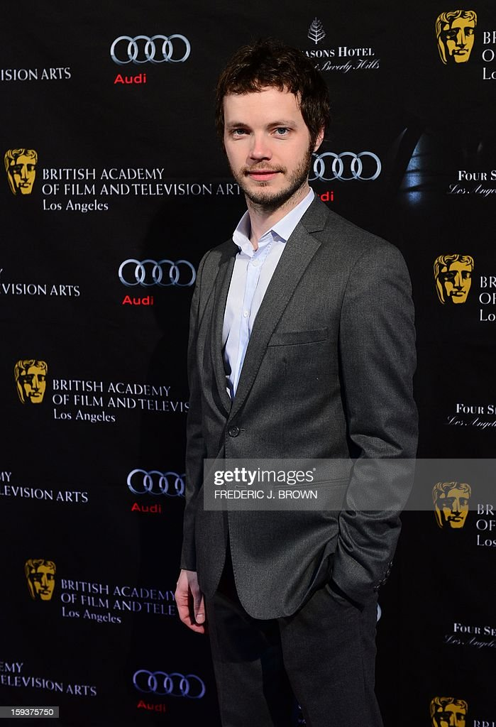 Ben Richardson poses on arrival for the British Academy of Film and Television Arts (BAFTA) Los Angeles Awards Season Tea Party on January 12, 2013 in Beverly Hills, California. AFP PHOTO / Frederic J. BROWN