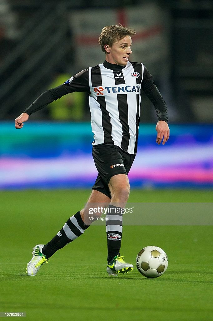Ben Rienstra of Heracles Almelo during the Dutch Eredivisie match between Heracles Almelo and FC Utrecht at the Polman Stadium on December 7, 2012 in Almelo, The Netherlands.