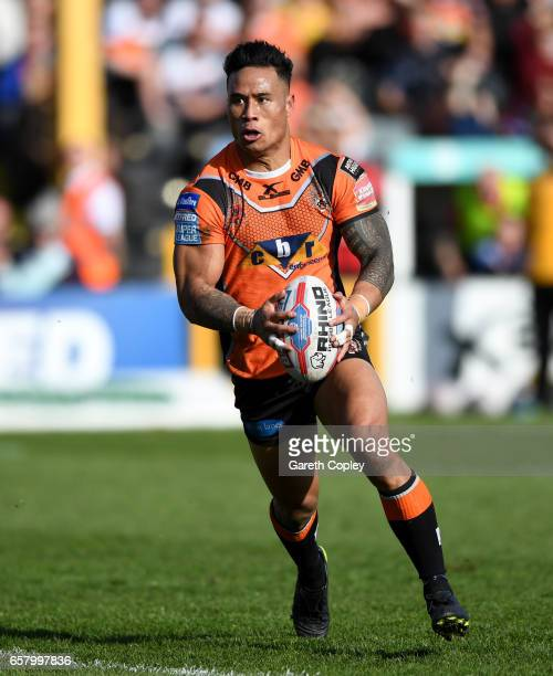 Ben Roberts of Castleford during the Betfred Super League match between Castleford Tigers and Catalans Dragons at Wheldon Road on March 26 2017 in...