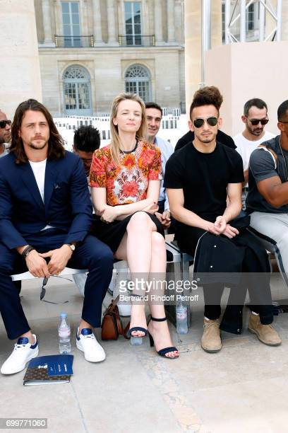 Ben Robson Louis Vuitton's executive vice president Delphine Arnault and Hidetoshi Nakata attend the Louis Vuitton Menswear Spring/Summer 2018 show...